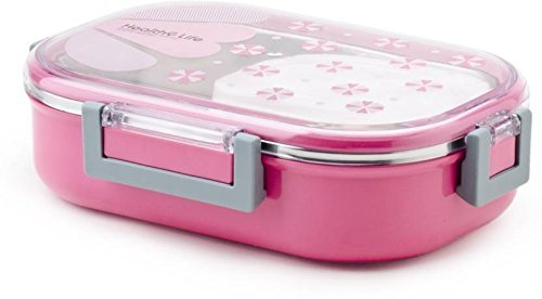 Almand Kids Stainless Steel Insulated School Lunch Box for Kids and Teenager (1 pc) (Pink)
