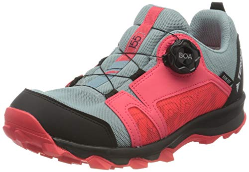 adidas Jungen Unisex-Kinder Terrex Agravic Boa R.rdy K Leichtathletik-Schuh, Dark Grau S18/ FTWR Weiss/Schock Rot, 30 EU