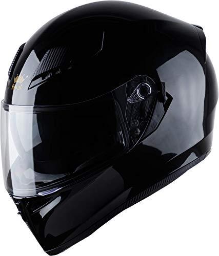 Royal R05 Full Face Motorcycle Helmet with Extra Sun Visor Inside for UV Resistance - DOT Approved (Gloss Black, XXL)