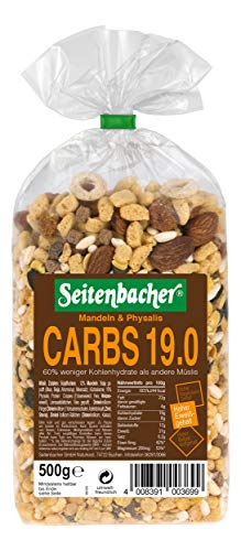 Seitenbacher Müsli Low Carb 19.0 Mandeln und Physalis, 1er Pack (0,5 kg)