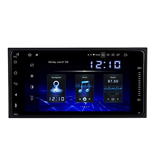 Reproductor multimedia para coche de 7 'Android 10.0 Estéreo de coche doble Din con Carplay para Universal Corolla Sienna Arius Fortuner 2000 a 2020 DAB Radio de coche Bluetooth GPS Wifi USB FM / AM