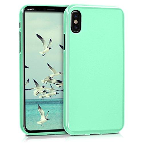 kwmobile Cover Compatibile con Apple iPhone X - Cover Custodia in Silicone TPU - Backcover Protezione Posteriore- Menta Matt
