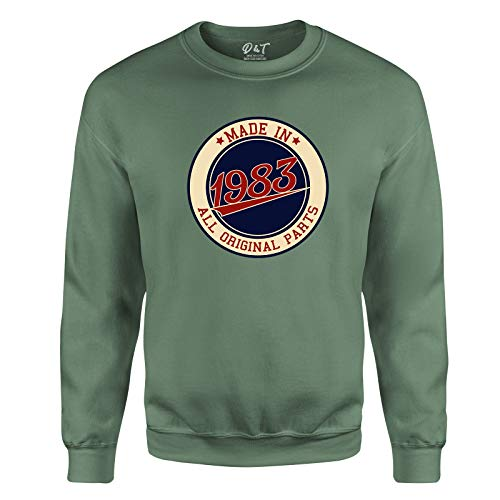 Made in All Original Parts 1983 Aged to Perfection 38th Birthday Gift Mens Sweatshirt Gift for Him