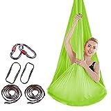 Hamaca de yoga de aire premium - Swing de la hamaca de yoga - Antigravity Silks aéreos -2 correas de extensión - amplia yoga de yoga herramienta de inversión-antigravedad colgante de techo colgando de