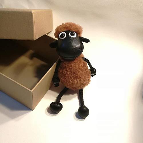 Caihuahua Shaun la oveja de peluche para colgar en la muñeca colgante de pelo cordero bolso de correo electrónico lindo femenino coche llave Fovet colgante B