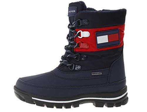 Tommy Hilfiger Jungen Winter-Stiefel - Technical Boots blau, Farbe:Blau, Größe:EUR 38