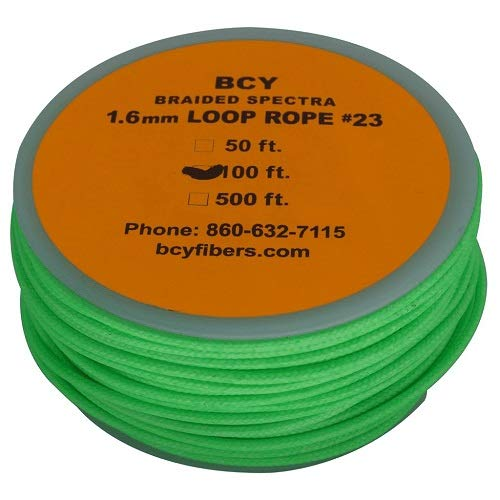 BCY Size 23 Loop Rope Neon Green 100 ft.