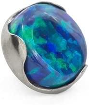 Painful Pleasures 18g - 16g Titanium 4mm Opal Prong-Set Flat Top - Price Per 1