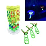 Chapter Seven 6 Amazing Arrow Rocket Copters. Led Lights Night Helicopter Flying Toy - Elastischer...