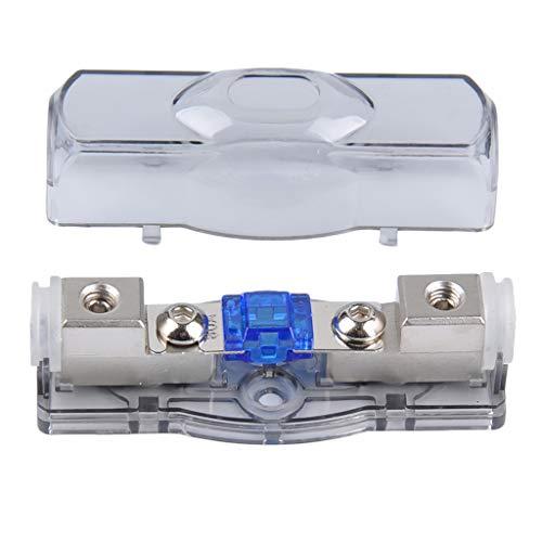 Toygogo Portafusibles ANL Modificado de Audio para Coche Nuevo 4GA * 1 8GA * 2 con Fusible 60A