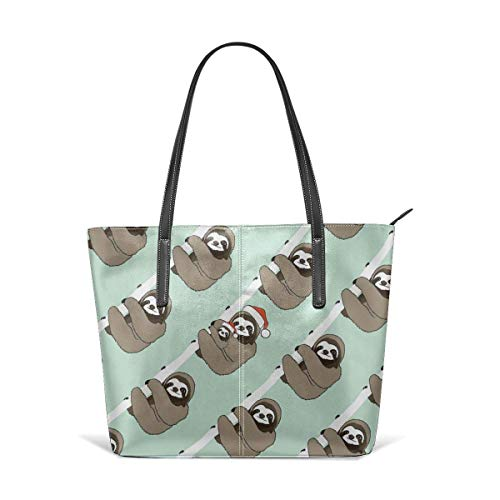 BAODANLA Borse a spalla da donna Women's Soft Leather Tote Shoulder Bag Lovely Sloth Big Capacity Casual Portable Handbag Purses Work Travel Bag