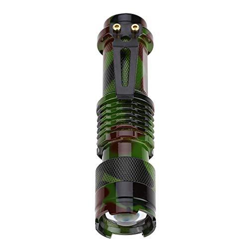 NOBRAND Unibell Mini Pluma de la Linterna LED de Recorte telescópica Zoom Modo de iluminación Ajustable lámpara de la antorcha (Camuflaje)