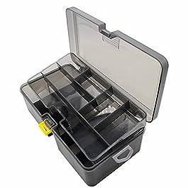 JAWSEU Boite Leurres Transparent Imperméable Boîte à Outils Pêche, Boîte de Rangement pour Matériel de Pêche, Caisse de…