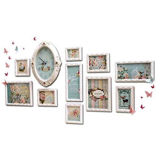 Dongyd 10 Teile/Satz Nette Multi-Frame Bilderrahmen Wohnkultur Malerei Bilderrahmen Hochzeit Geburtstag Geschenke Collage Bilderrahmen Wand (Color : B)