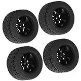FOLOSAFENAR Neumáticos de Coche RC Negros Neumáticos de camión con Banda de Rodadura de Goma Aptos para Zd Racing