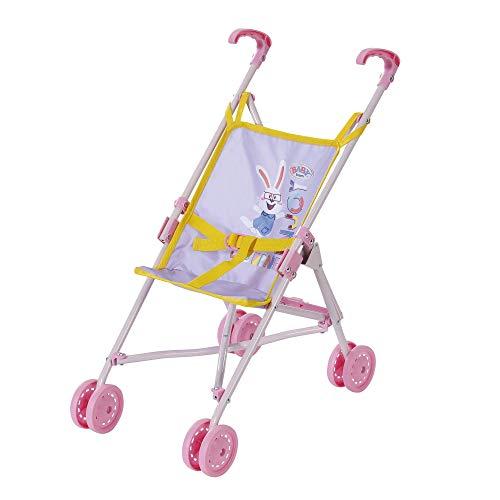 BABY born Zapf Creation 828670 Stroller, Puppenwagen mit Gurtsystem, zusammenklappbar, Griffhöhe 53 cm, Puppenzubehör für Puppen verschiedener Größen