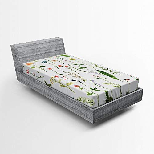 ABAKUHAUS Färgglad sladd, blommor weeds, mjukt dekorativt tyg sängkläder runt elastiskt elastiskt elastiskt elastiskt band, 90 x 200 cm, flera färger