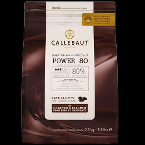 Callets, Power 80, 2,5 kg, weniger süß, Kuvertüre, Backschokolade