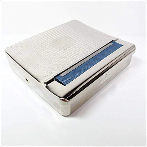 1 X 70mm Metal Cigarette Roller & Storage Box