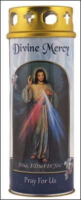 C BC Divine Misericordia Vela con la oración de la Divina Misericordia
