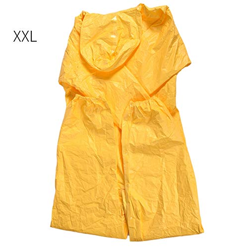 Mumusuki klasse C corrosiebestendige zuur-gebaseerde oliebestendige waterdichte beschermhoes met capuchon beschermende kleding voor chemische vloeistoffen experiment beschermende kleding