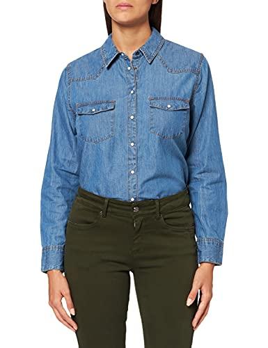 camicia donna jeans lunga Marchio Amazon - find. Camicia Jeans a Manica Lunga Donna