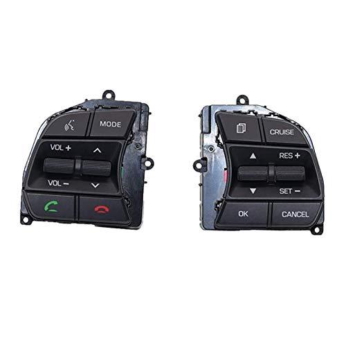 ZHENGYI Interruptor de Control de Control de Control de Control de la Llave de Control de la Rueda del automóvil Fit para Hyundai Sonata LF 2016-2018 (Color : Black)