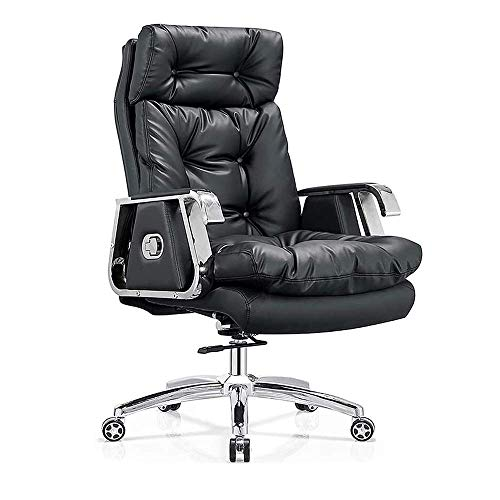HAOSHUAI Lederchef Home Office Chair Liebesaufzugsstuhl