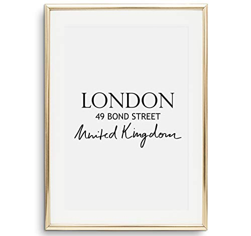 Tales by Jen Kunstdruck, Städteposter: London | Stilvolles Premium Poster auf hochwertigem Papier | Schwarz Weiß Bilder als stylische Wohnzimmer Deko und als Wohnaccessoires | Ohne Bilderrahmen