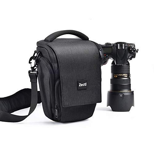 Professioneller Kameratasche, Zecti Fototasch Schlaufen Rucksack für Nikon Canon Sony & DSLR Kameras & Objektiv, Weiteres Zubehör, wasserdichte Tasche (Schwarz)