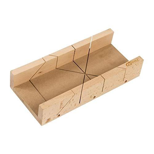 KS TOOLS 907.2513 Caja ingletadora de Madera, 350 x 120 x 50 mm, Blanco, 350x120x50mm