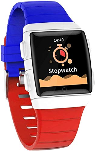 Smart Watch 1 3-Inch IPS Large Screen Ip68 Waterproof and Battery Life Smart Bracelet with Seven Sports Modes for Android Classic/Red-Blue and Red