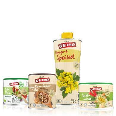 "GEFRO ""FIt-in-den-Frühling""-Set: Öl, Salatwürze, italienische Würze und Kerne/ Samen"