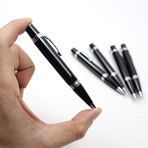 Iaywayii Mini Metal Bolígrafo Roller Pen / 0.7m'm de Tinta Negro Suministros Recarga para la Escritura de Negocios Escuela de la Oficina