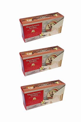 3x 400g Halvas aus Sesam Vanille aus Griechenland griechischer Halva Vanilla Spar Set girechische Süßspeise Süßigkeit + 10ml Olivenöl Test Sachet