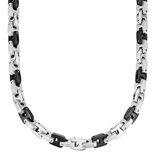 s.Oliver, collana da uomo in acciaio inox, IP di colore nero