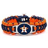 Swamp Fox Premium Style Houston Astros Baseball Team Adjustable Paracord Bracelet