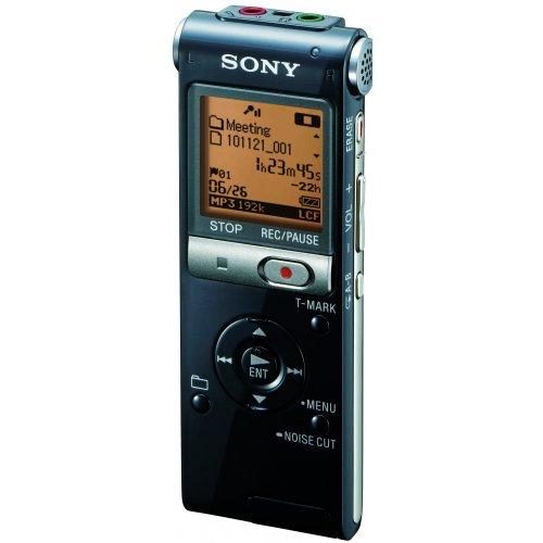 Sony ICDUX513FB 4 GB digitale recorder (FM-tuner, M2-/Micro, SD-kaartsleuf, USB 2.0) zwart
