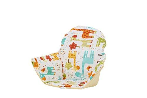 Polini Kids Sitzkissen Sitzeinlage für Ikea Antilop Hochstuhl gelb