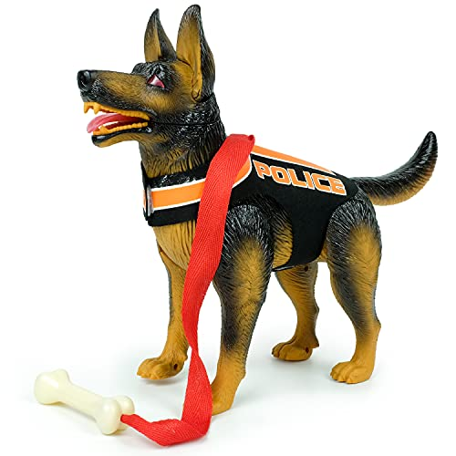 KAIJILE Robot Dog Smart Puppy Police Dog Toy Mobile German Shepherds Dog Toy Puppy Toy 3-6 Years