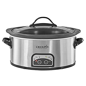 Crock-pot SCCPVF620S Smart Pot Slow Cooker with Easy to Clean Stoneware | Programmable 6 Quart | Stainless Steel