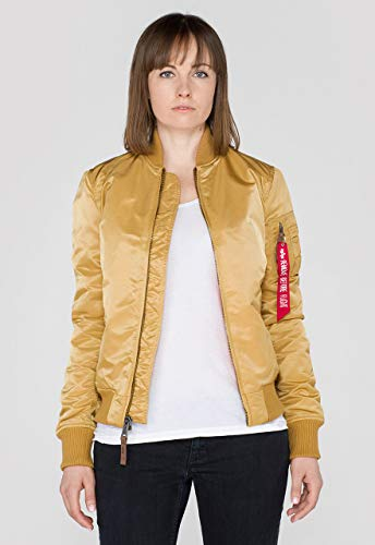 Alpha Industries Damen Fliegerjacke 'MA-1 VF59 Wmn', Gold, M