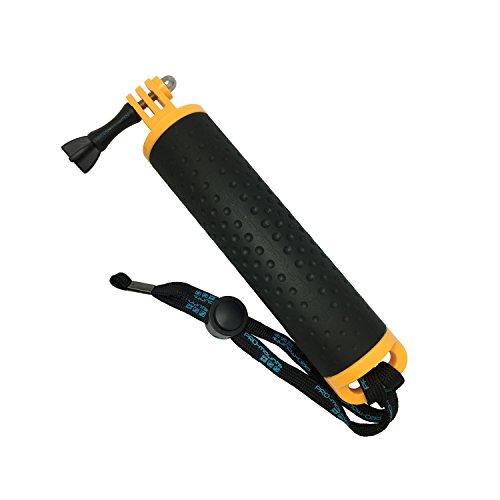 PRO-mounts AquaGrip actie cam handgreep houder geel Gopro handvat, One Size
