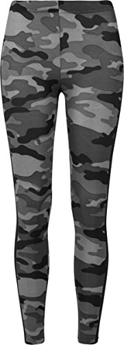 Urban Classics Damen Leggings Ladies Camo Stripe, Mehrfarbig (Darkcamo/Blk 00840),48(Herstellungsgröße:4XL)