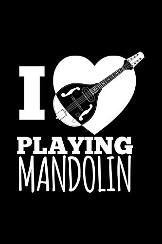 I Love Playing Mandolin: Blank Paper Sketch Book - Artist Sketch Pad Journal for Sketching, Doodling, Drawing, Painting or Writing