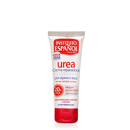 Instituto Español Urea Ultra Hidratación Crema reparadora avanzada para piel áspera o seca, 20% urea, 75 ml