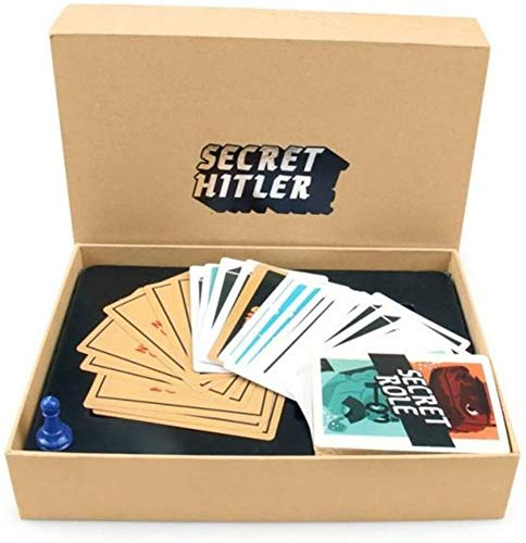 SOYYD Juego de Cartas secretas de Hitler Board, Juego de rol Escondido Que el Mundo para la Fiesta ha Visto Alguna Vez, Halloween, Juegos al Aire Libre Jugando a Las Cartas,Beige