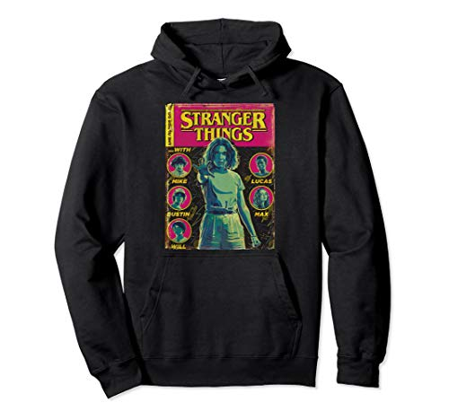 Netflix Stranger Things Group Shot Comic Cover Pullover Hoodie