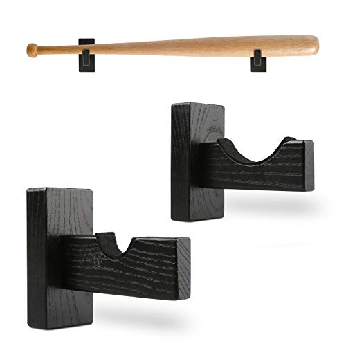 AXUAN Baseball Bat Display Stand Softball Bat Holder Rack Wall Mount for Horizontal Display Solid Wood amp Felt Liner Protection Wooden Stand Display for Baseball Bat Memorabilia Collectible