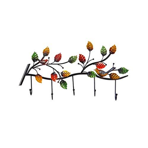 Jiji kledinghaken wandkleerhaken vogels vlinder bladeren smeedijzer boven deur keuken badkamer garderobe werken goed wandhouder haak garderobe strip